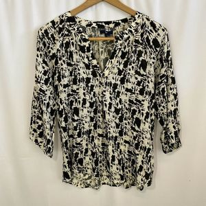 Gap Womens Black And White Blouse Size Small